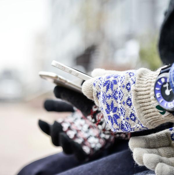 nakotaノルディック柄手袋。